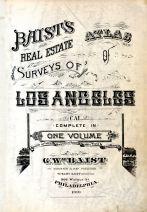 Title Page, Los Angeles 1910 Baist's Real Estate Surveys